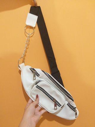White waist bag