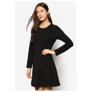 Zalora Collection Drop Waist Fluted Hem Dress