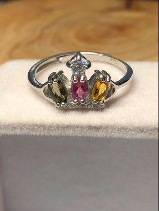 碧玺925银戒指💍Tourmaline 925silver ring (adjustable size)