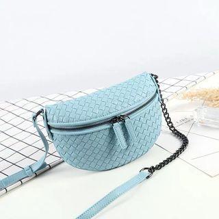 🚚 Woven summer small bag 2019 diagonal cross Messenger bag Korean version saddle bag shoulder bag mobile phone bag sling bag crossbody