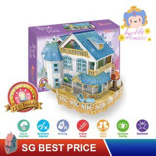 ❤️(SG BEST) CubicFun Dream DIY Dollhouse: RURAL VILLA (P635h) with LED – Cubic Fun Doll House 乐立方 [BEST PRICE GUARANTEED – LITTLEBUILDERS LITTLE PRINCESS SERIES 3D PUSH-FIT ARCHITECTURE PUZZLES – IDEAL GIFT]