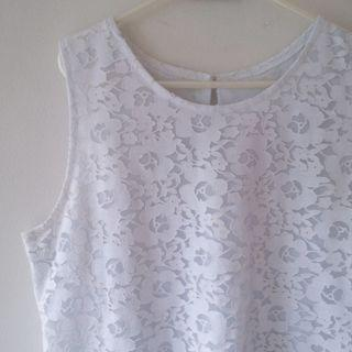 floral Lace Top - White