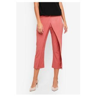 Zalora Tailored Wrap Front Pants