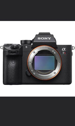 Like New In Box Sony A7riii + FE 24mm 1.4GM + FE 85mm 1.8