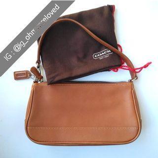 COACH Hampton Handbag Demi-Pouch 7785 Khaki
