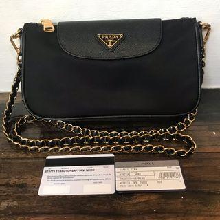 db652c1c9 Authentic   Original Prada Tessuto Sling Bag on Chain