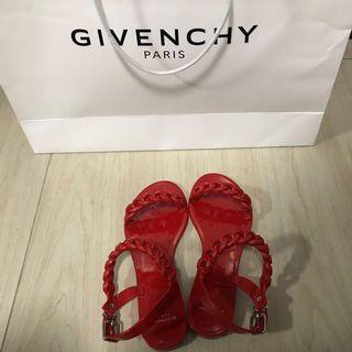 100% Authentic Givenchy Sandals in Red