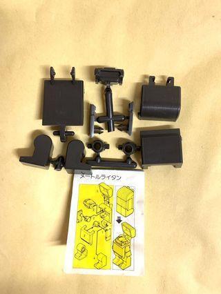 1982年 絕版 黃金戰士 黃金俠 公仔 POPY 超合金 扭蛋 GOLDEN LIGHTAN SERIES 測量戰士 模型 日本製 MADE IN JAPAN BANDAI 黑色