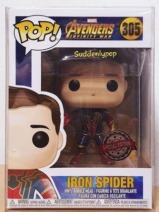 🚚 Funko Pop Marvel Avengers Infinity War Iron-Spider #305 Special Edition