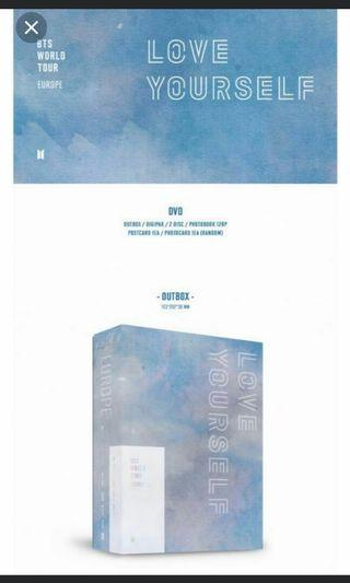 WTB (loose) BTS Love yourself EUROPE dvd PHOTOCARD