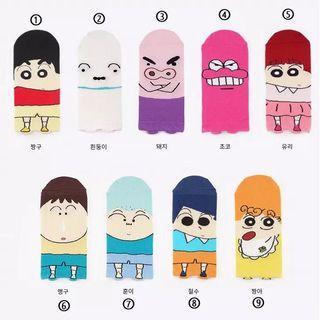 Po: crayon shin chan socks
