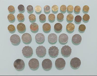 41個香港英女皇硬幣全部不同全部共售HKD100.00