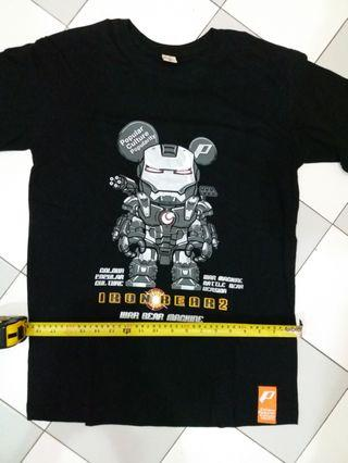Iron man ironman t-shirt tshirt ironbear war machine marvel
