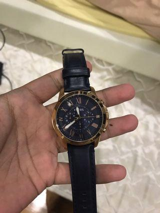 Fossil Watch Blue Gold