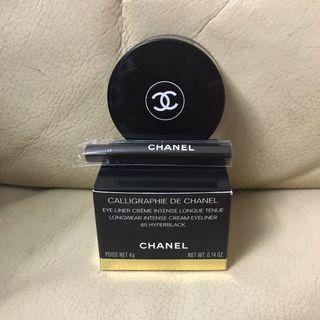 全新正品 Chanel calligraphie de chanel Longwear Intense Cream Eyeliner 65 - HYPERBLACK 眼線 黑 防水持久眼線膏 送眼線掃