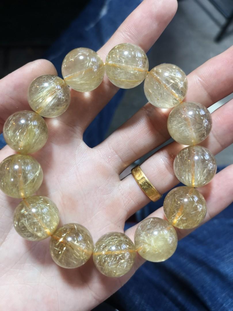 天然金髮晶手鏈