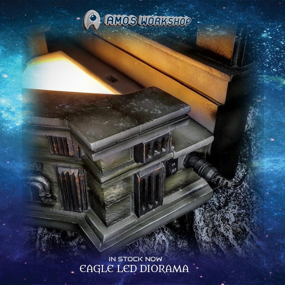 先閱文,後發問 老鷹雕像哥德式場景 Eagle LED Diorama