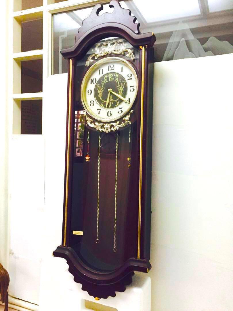 老爺古董木製大掛鐘