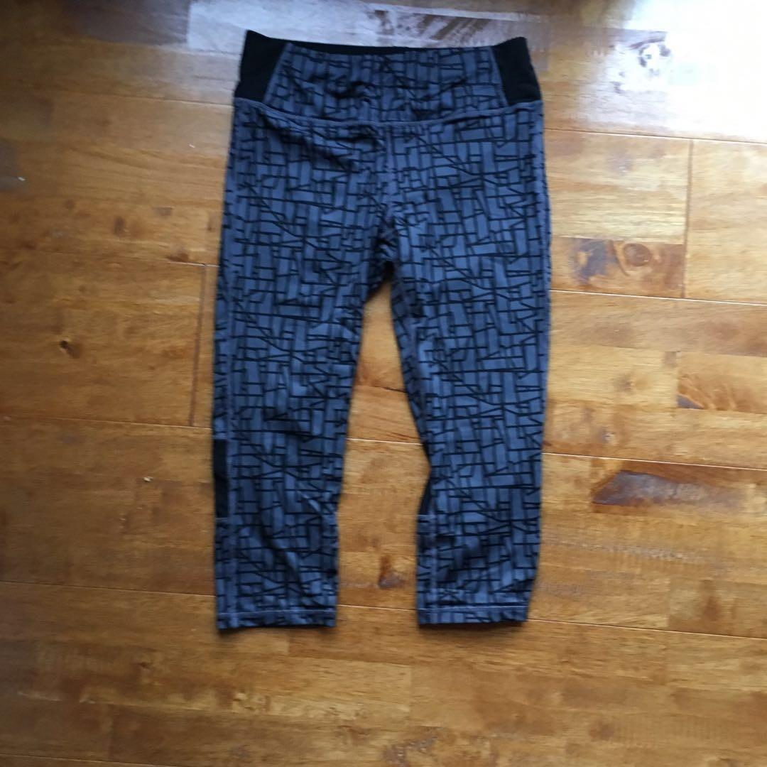 * 3/4 Tights | Slimming Leggings | Patterned | Dark Grey | Size 10 *
