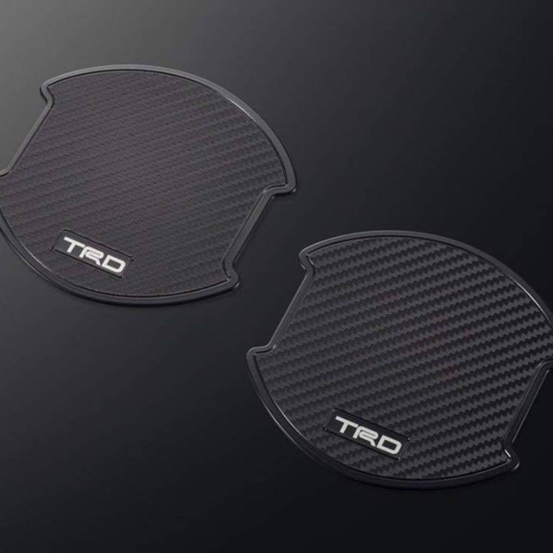 日本製 TRD 豐田 碳纖紋門邊手抽防花貼