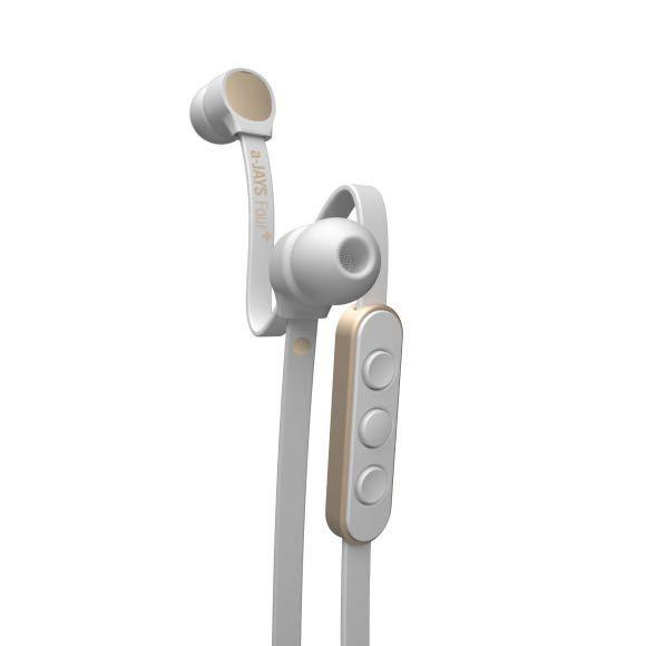 a-JAYS Four+ Earphones with Mic for iOS/Android (White Silver)