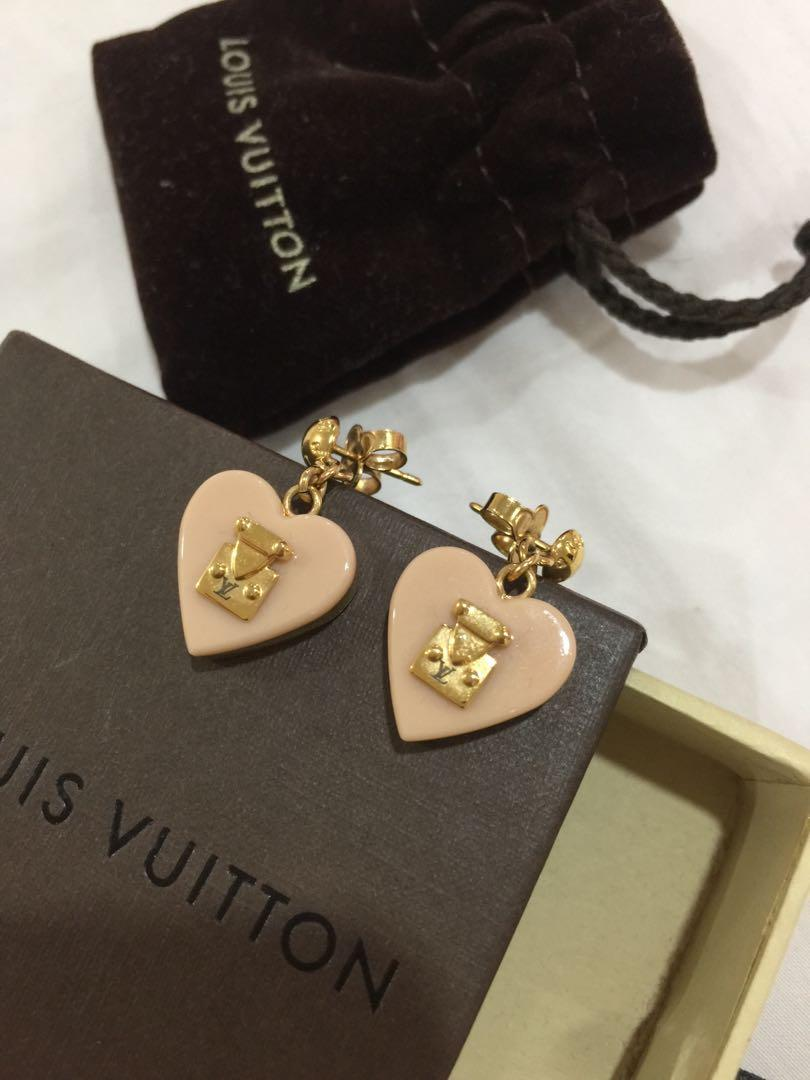 Authentic Louis Vuitton Lock Me Heart Earrings