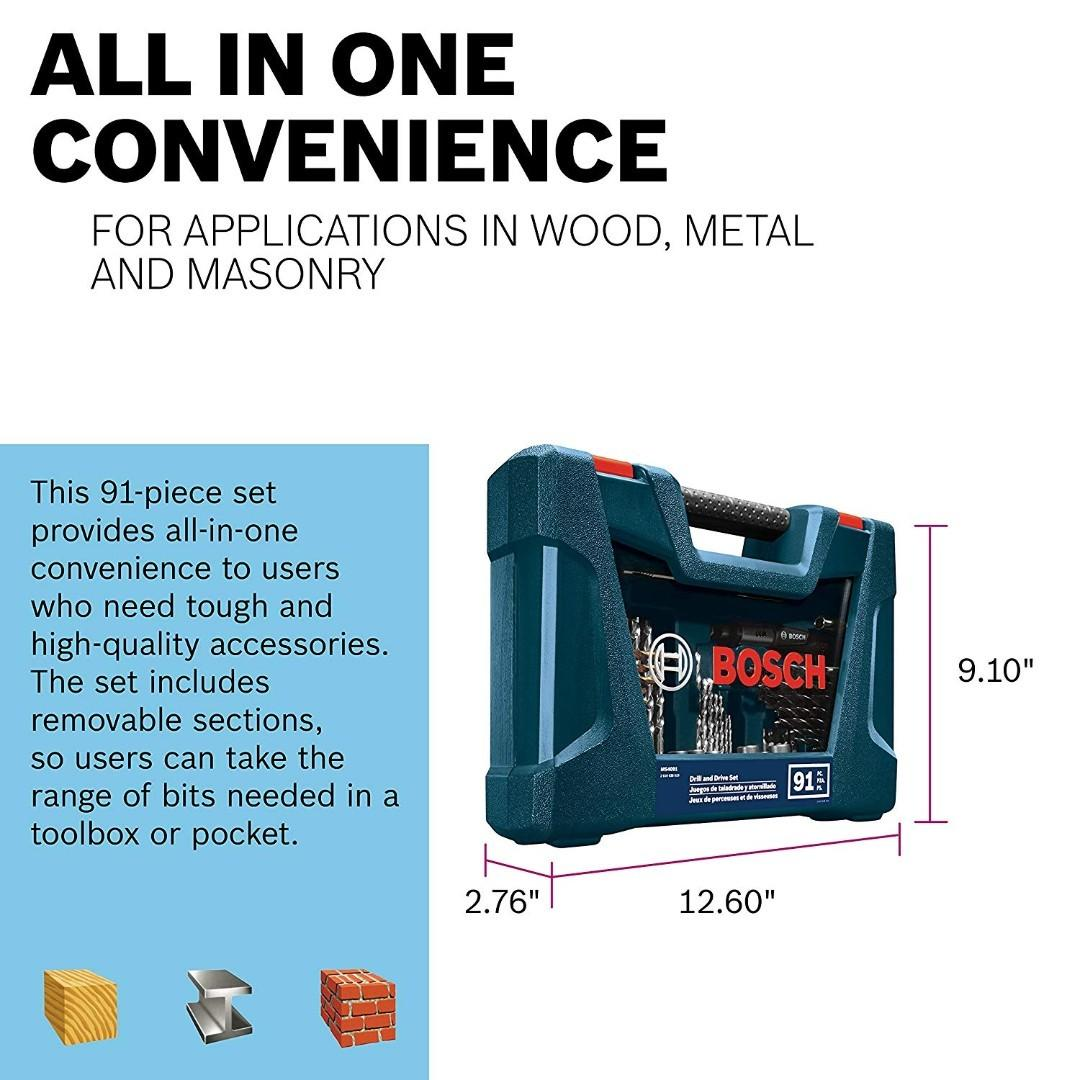 Bosch Drill Bits Set