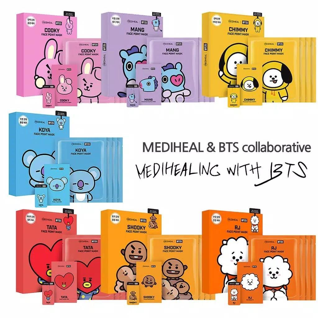 [BTS] MediHeal X BTS BT21 Korean Facial Point Mask Face