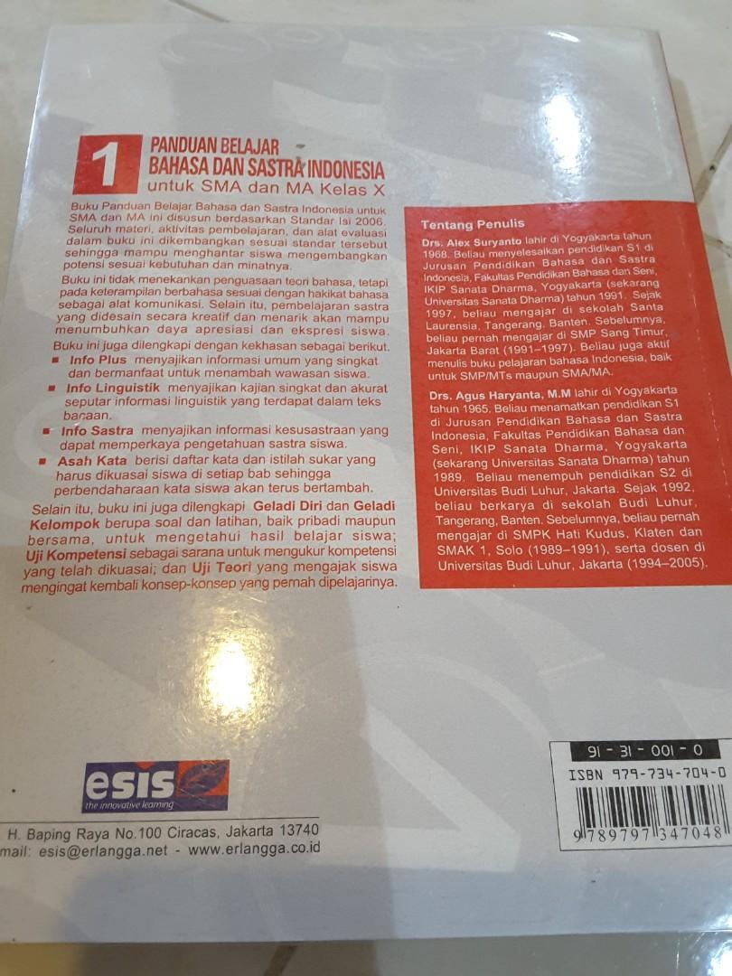 Buku bahasa indonesia untuk SMA dan kelas 10