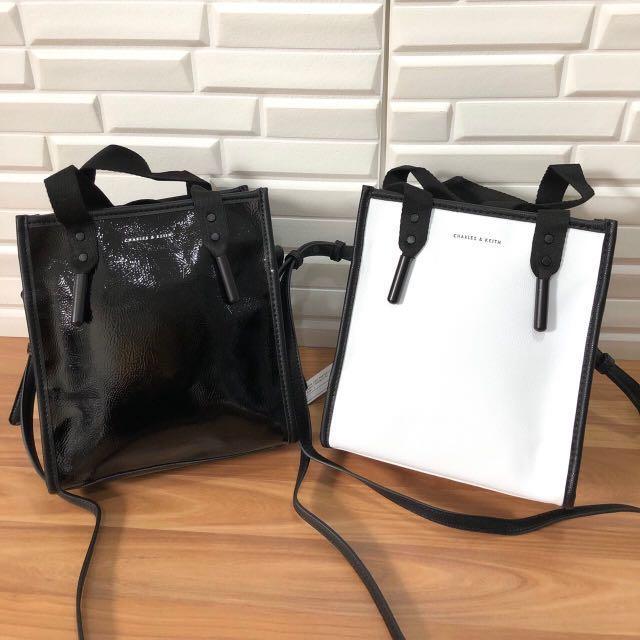 Charles & Keith Aglet Detail Tote Bag #BAPAU