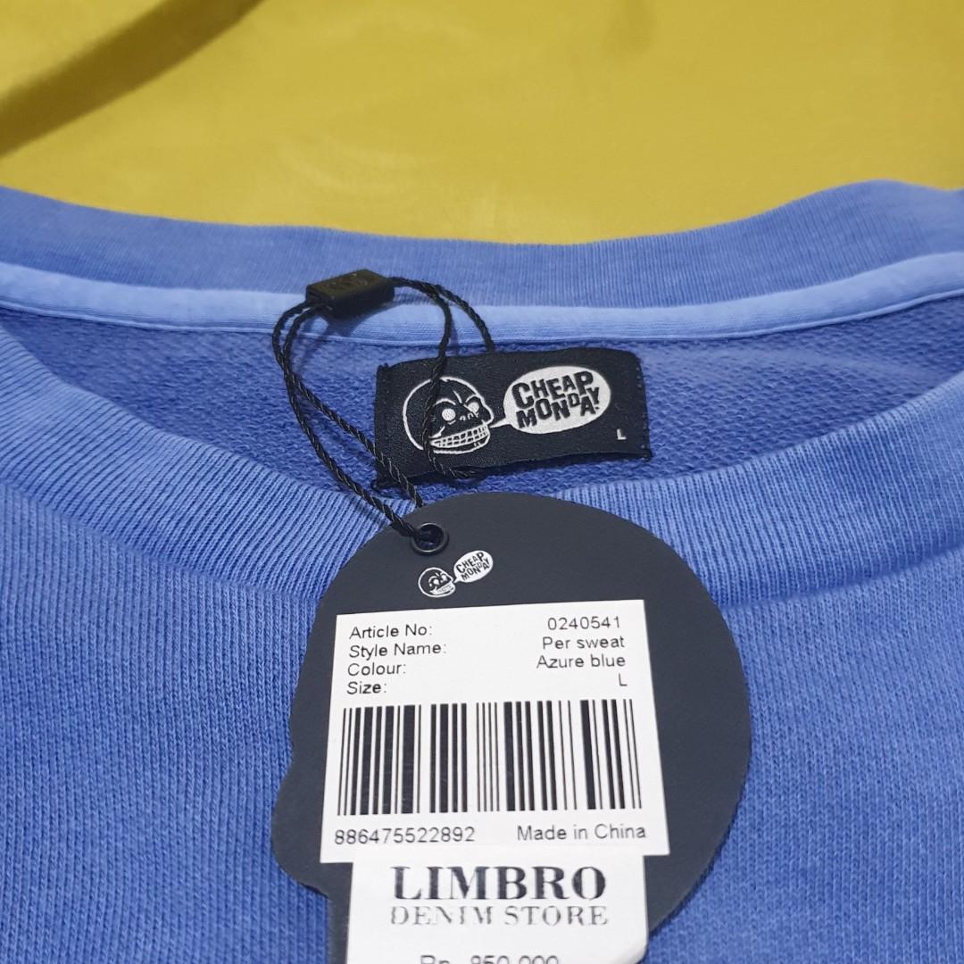 Cheap Monday Sweater Azure Blue