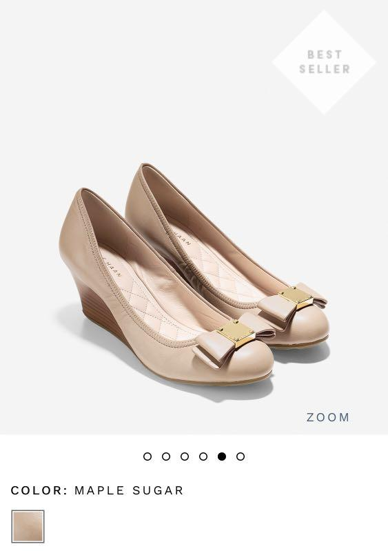 8d357691a Cole Haan Tali Grand Bow Wedge on Carousell