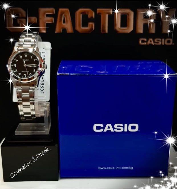 NEW🌟COUPLE💝SET : CASIO UNISEX SPORTS WATCH : 100% ORIGINAL : By G-SHOCK ( GSHOCK ) Company : LTP-1215A-1B3DF + MTP-1215A-1B3DF :  ISLAMIC / HIJAB / MUSLIM
