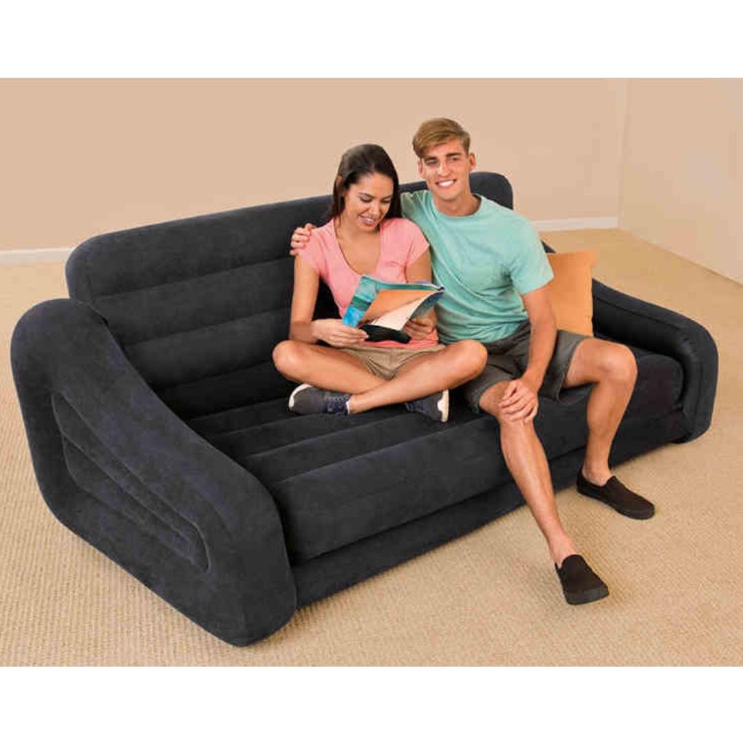 Double Deluxe Folding Inflatable Sofa Bed Furniture Sofas On