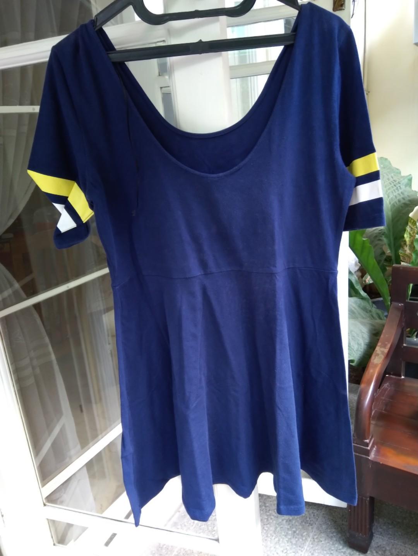 Dress/top bergaya Jersey team