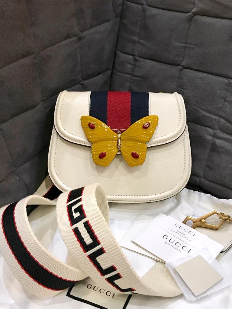 FAST SALE NBU Gucci linea totem with butterfly (bisa sling) comes w strap, care guideline, control number, sample leather, db NOW ONLY