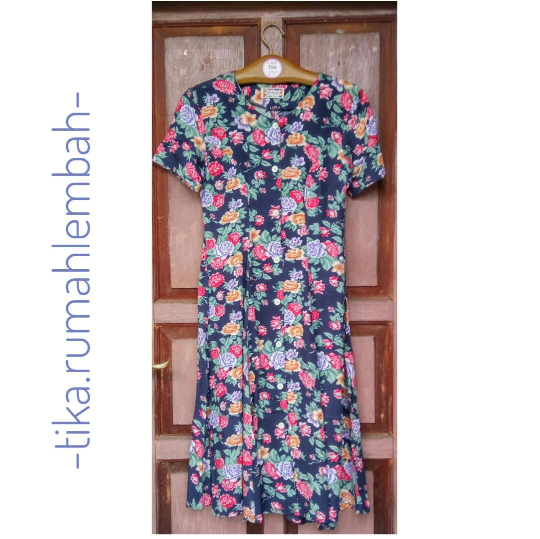 #ramadansale Flower Dress Dark Blue #mauvivo