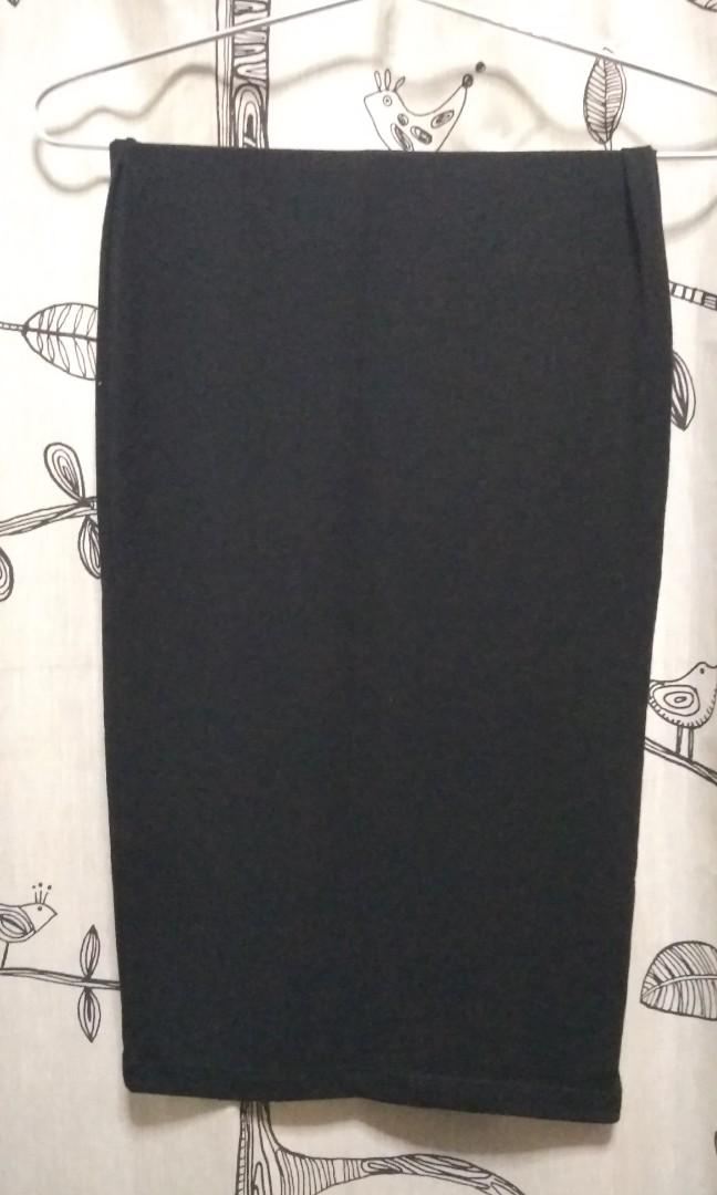 forever 21 long black skirt