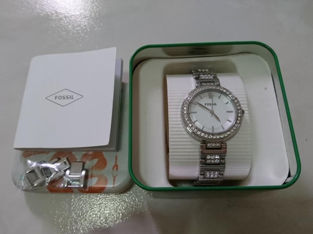 Fossil Stainless steel Strap with Cristal 34mm diameter BQ3180 (Authentic)