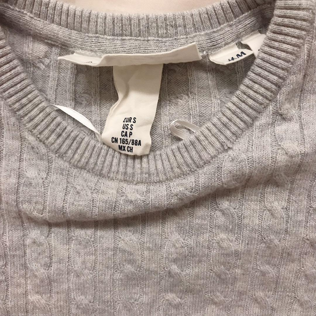H&M Grey Sweater Small Like New