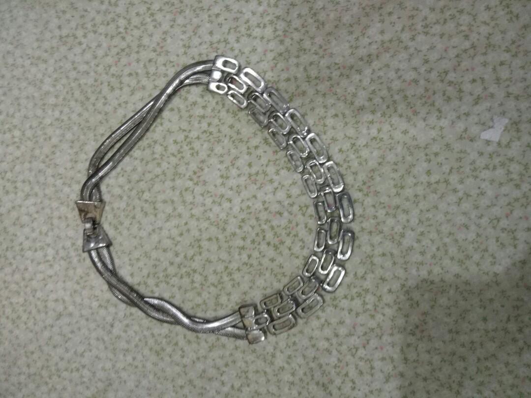 Kalung silver anti karat