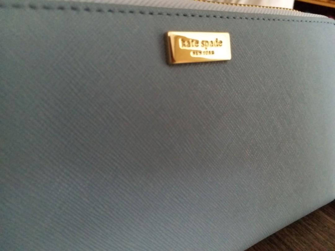 Kate Spade Neda Laurel Way Leather Wallet WLRU2669 462 light blue