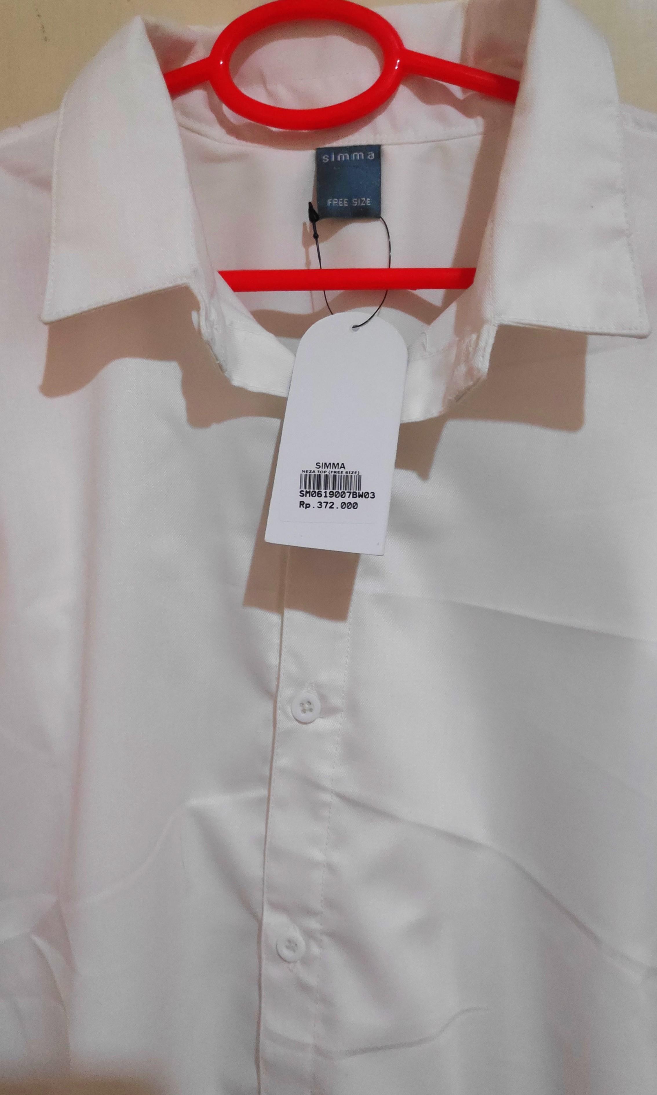 Kemeja Putih Bordir (Broken White)