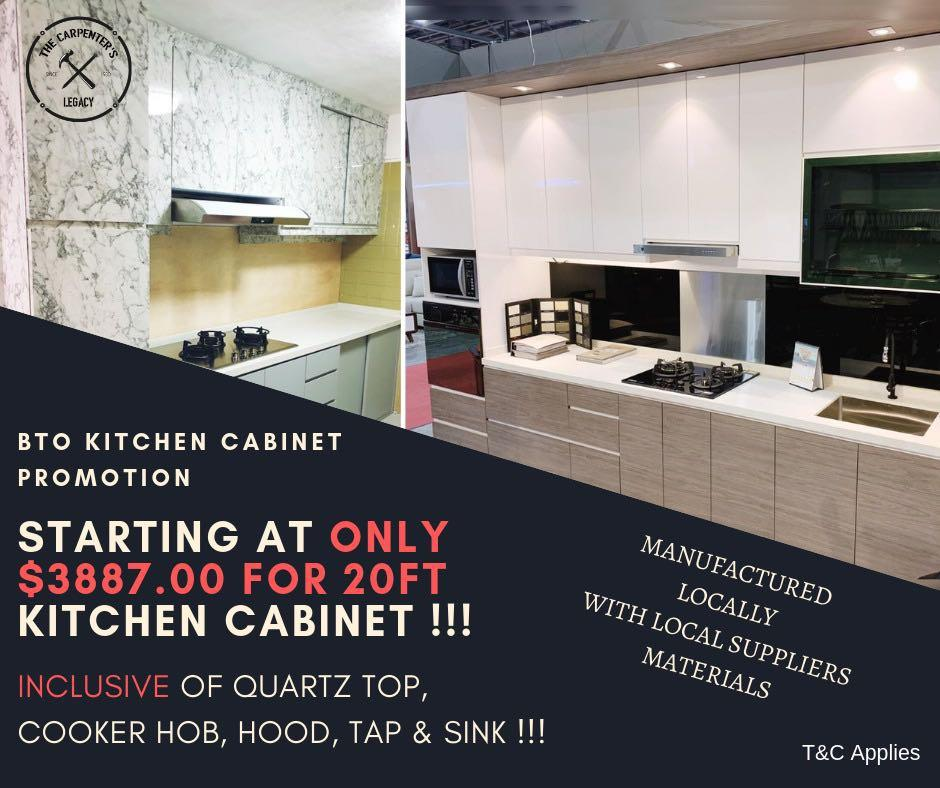 KITCHEN CABINET PROMOTION BTO/RESALE AND FULL HOME RENOVATION CARPENTRY SERVICES