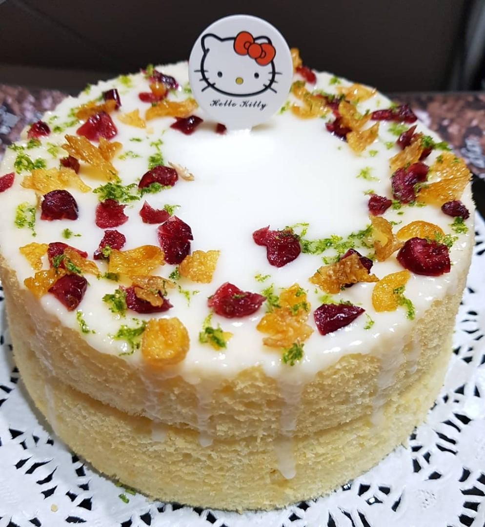 Lemon Cake with Yuzu Jam filling