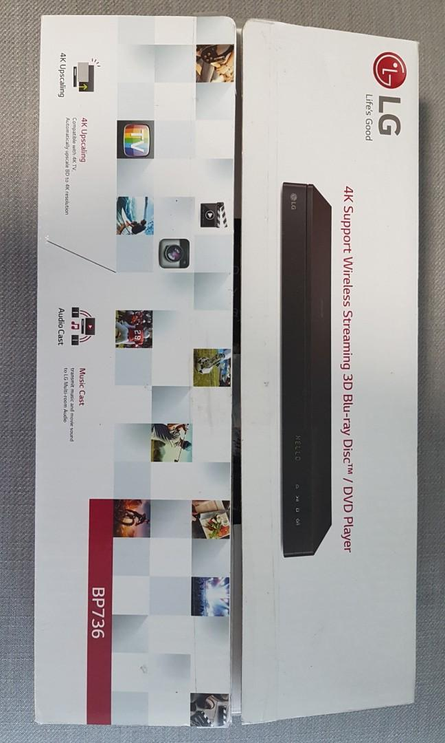 Lg Bp736 Blu Ray Player With 4k Upscaling Electronics Others On Carousell