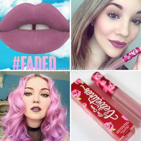 LIME CRIME velvetine liquid lipstick in shades BLEACHED, RIOT, FADED, SHROOM, WICKED