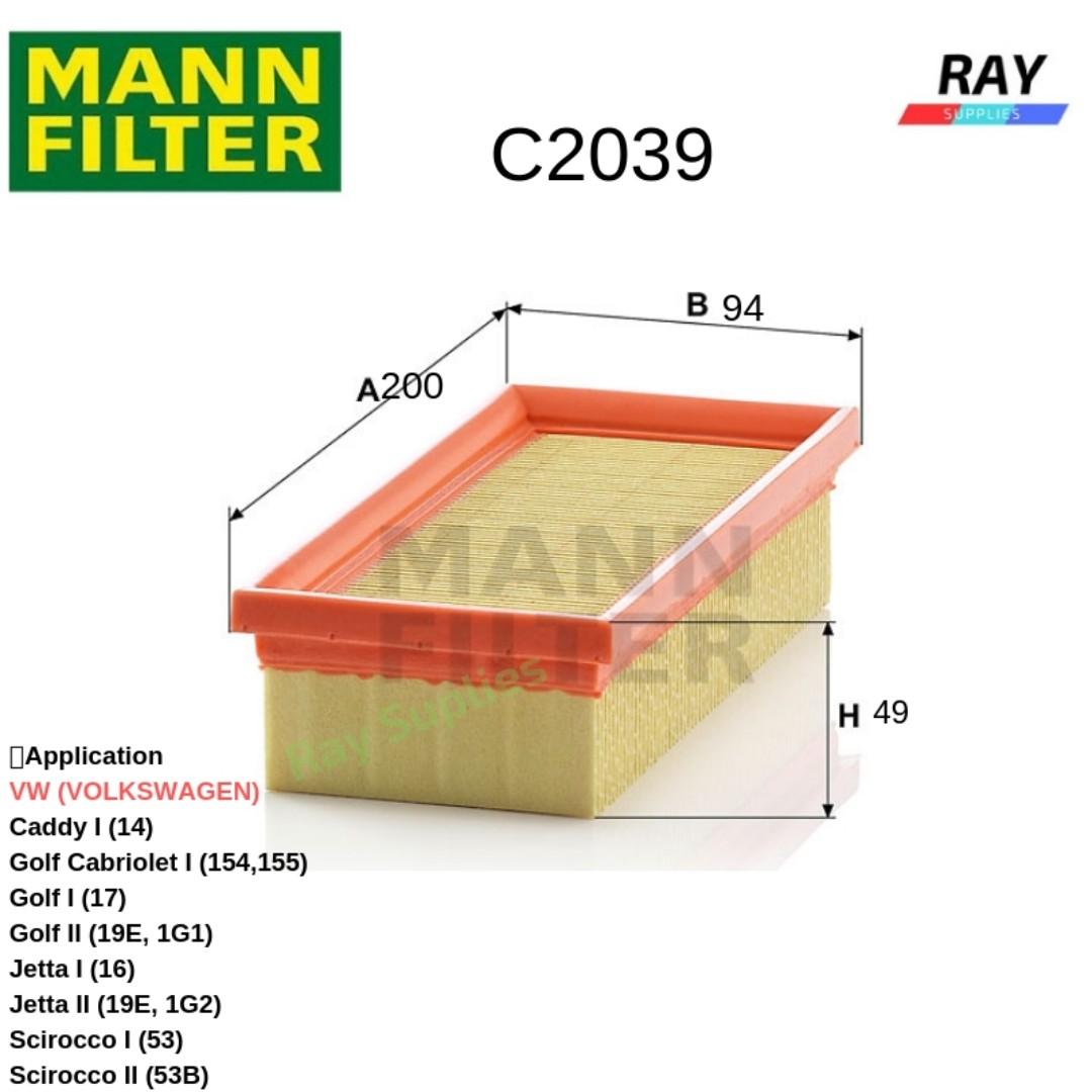 Luftfilter Filter NEU MANN-FILTER C 2039