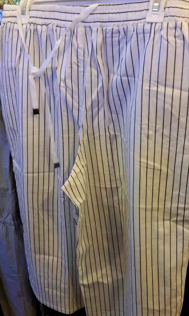 #MAUVIVO celana kulot 7/8 stripe