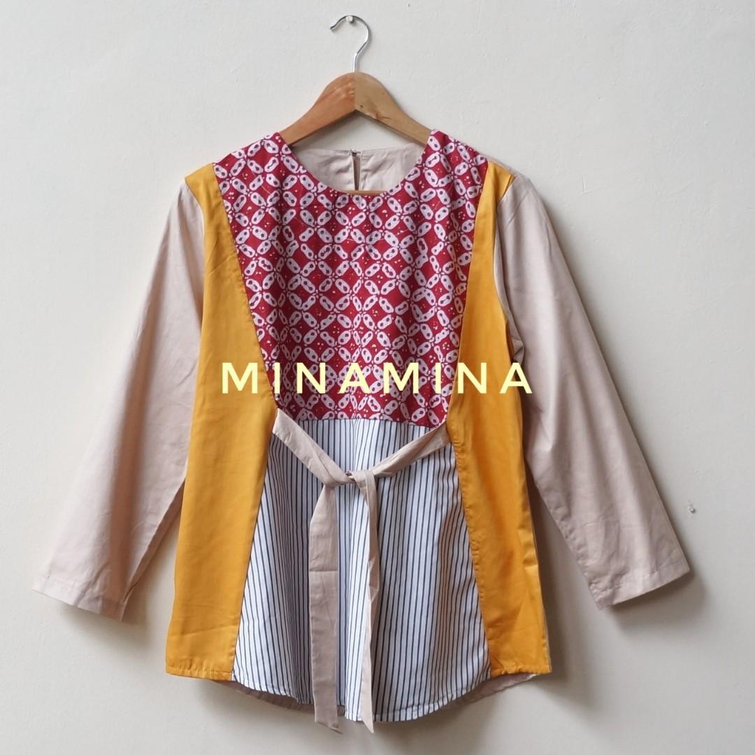 [NEW] Baju Atasan Kerja Wanita Blouse Batik Modern Stylish BY